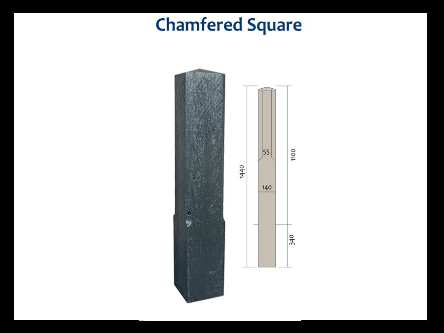 RCG chamfered square bollard