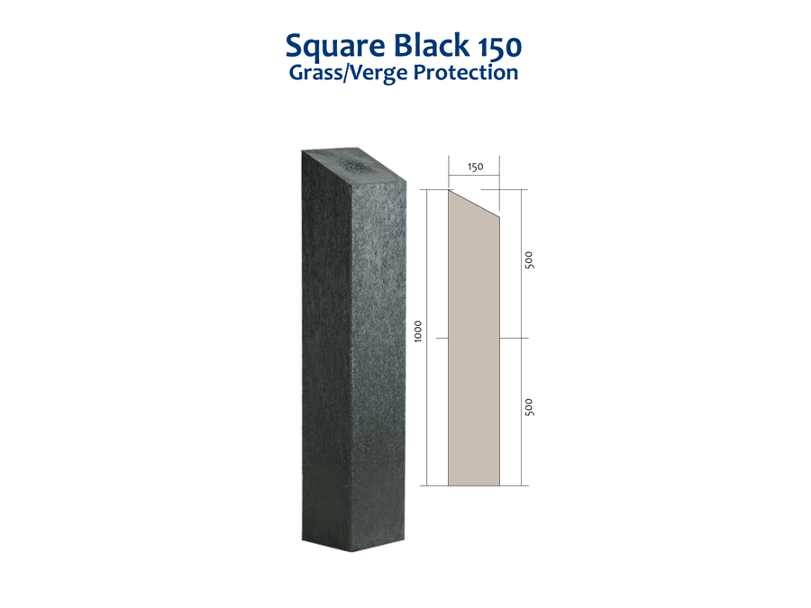 RCF square black 150 bollard