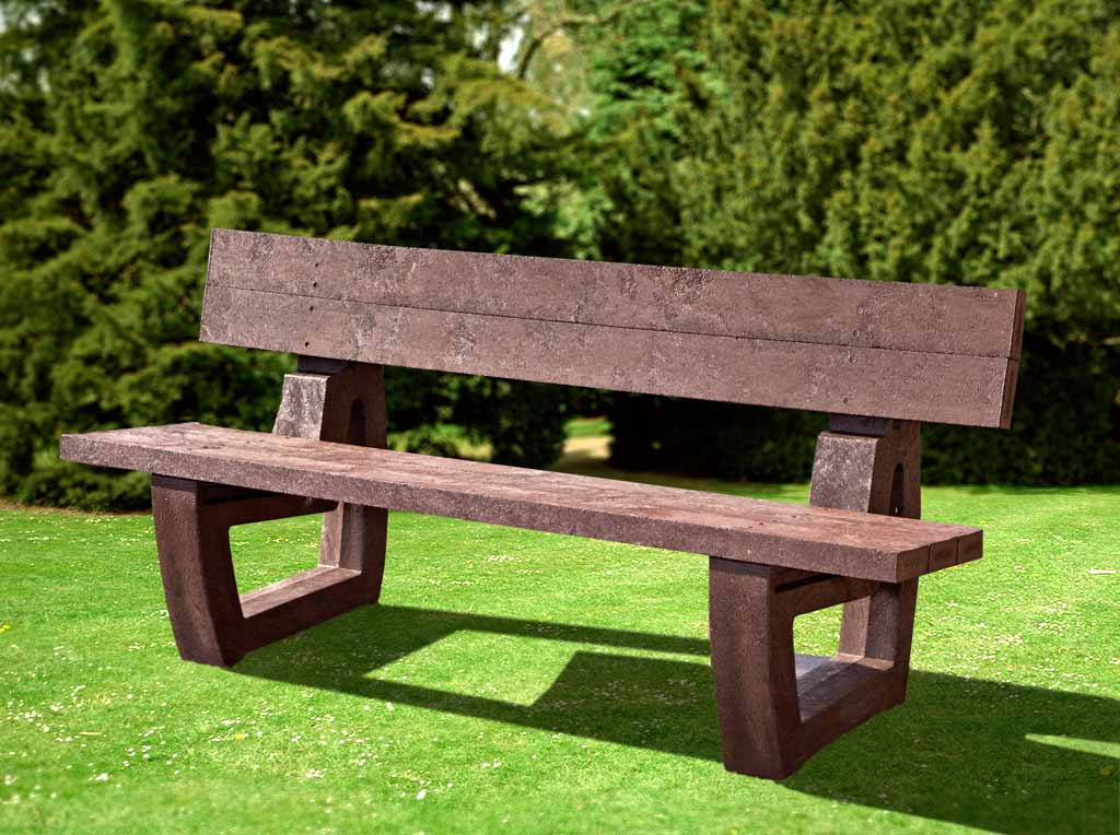 RCF fully molded recycled bench