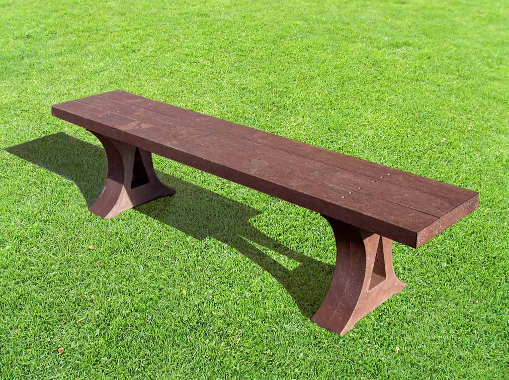 RCF recycled molded backless bench