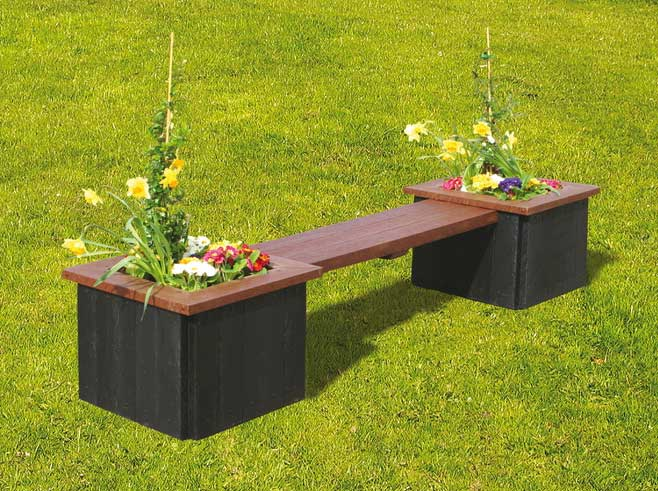 RCF recycled planter bench