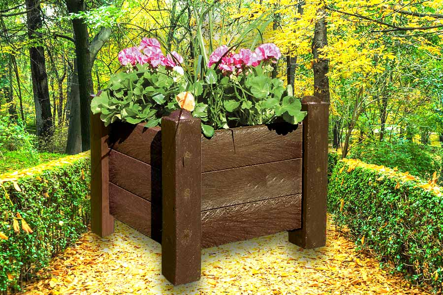 RCF recycled planter with corner posts