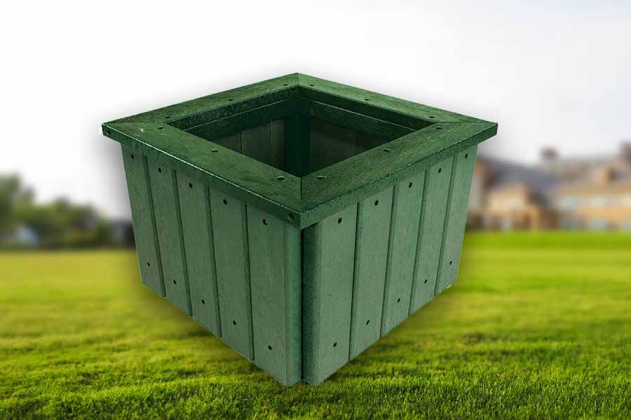 RCF recycled planter planter with rim