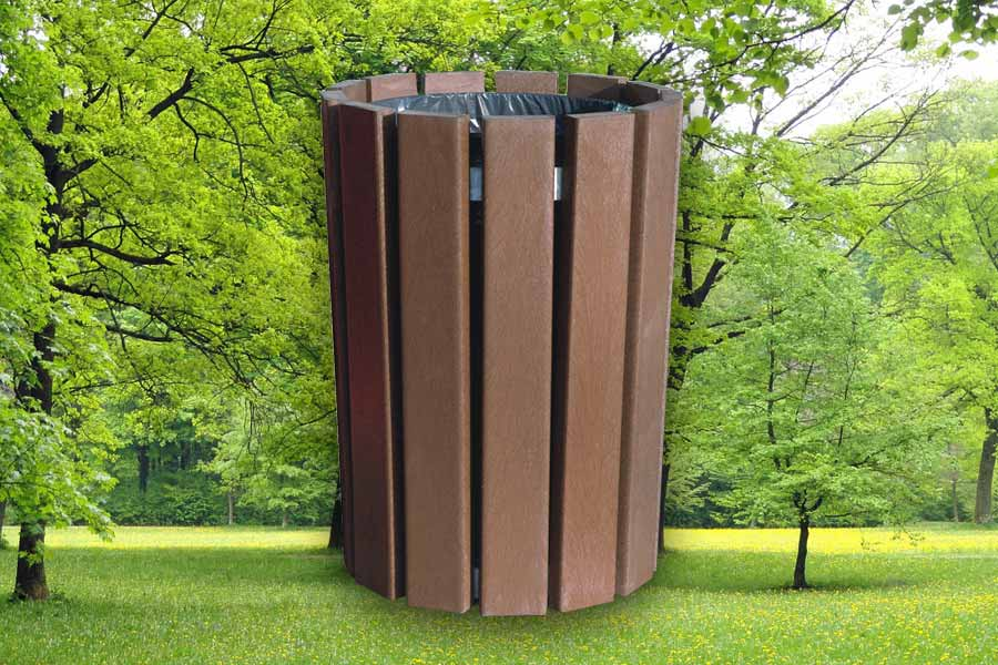 RCF recycled plastic round litter bin