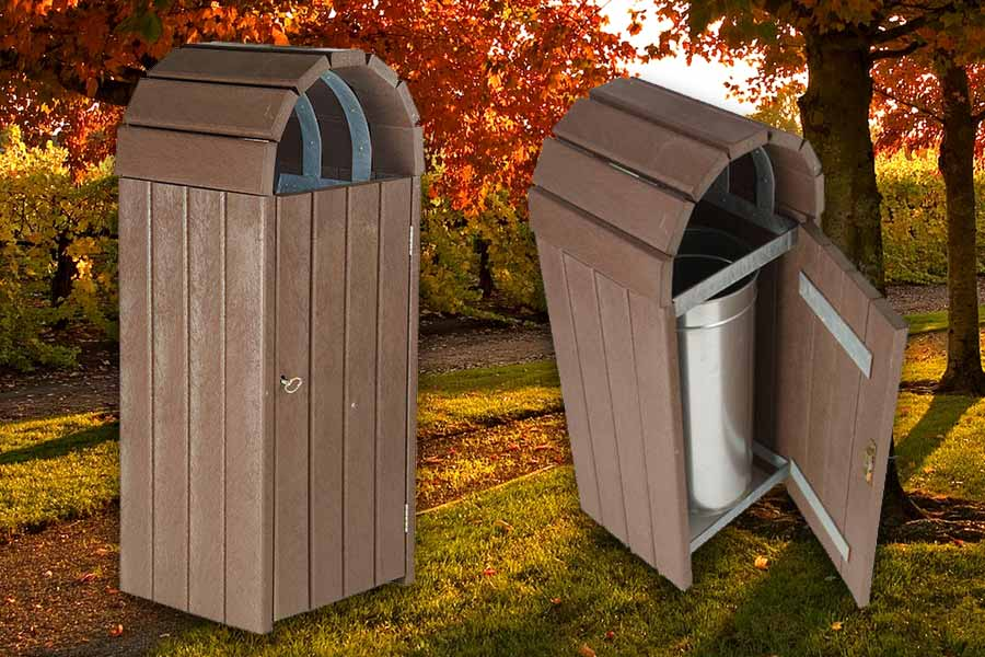 RCF recycled plasticdome top litter bin