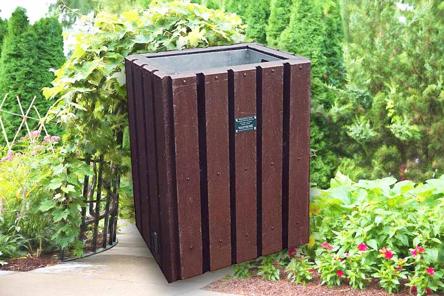 RCF recycled plastic litter bin